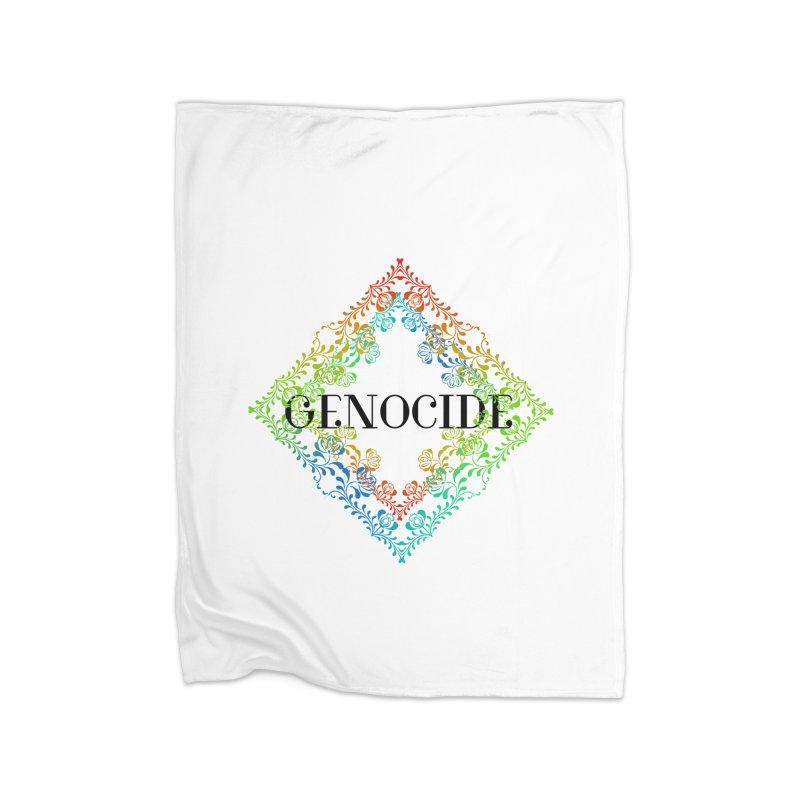 Genocide Home Fleece Blanket Blanket by lostsigil's Artist Shop
