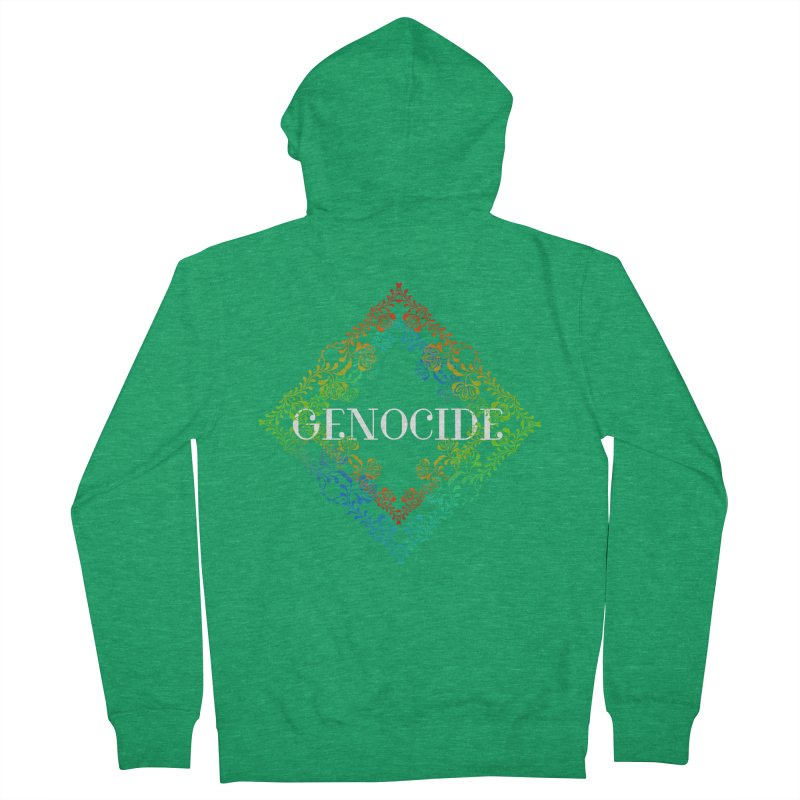 Genocide Dark Women's French Terry Zip-Up Hoody by lostsigil's Artist Shop