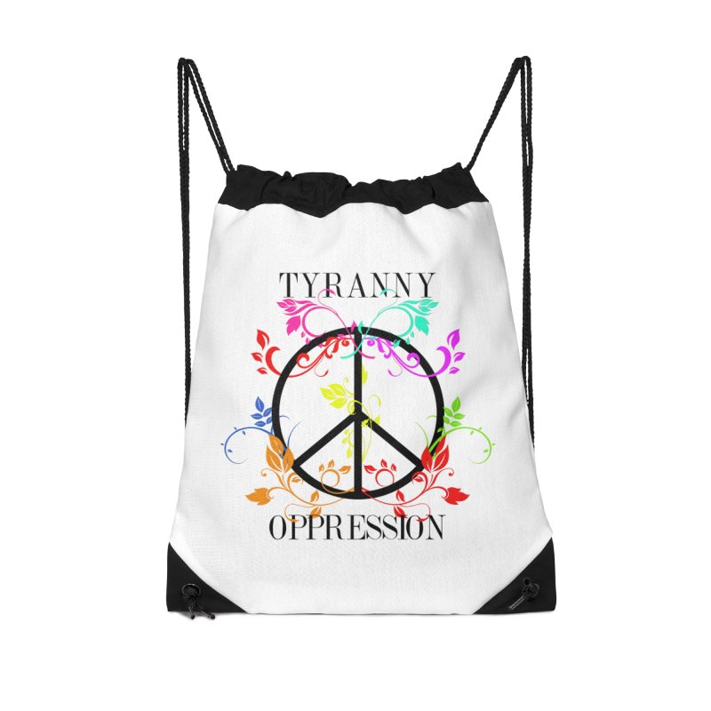 All you need is Oppression Accessories Drawstring Bag Bag by lostsigil's Artist Shop