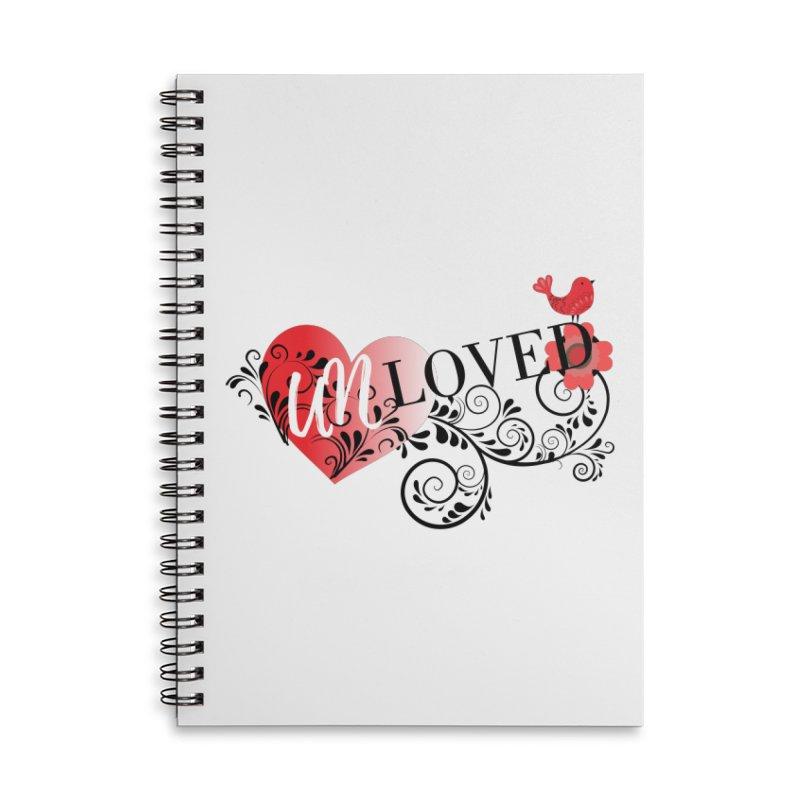 Unloved Accessories Lined Spiral Notebook by lostsigil's Artist Shop