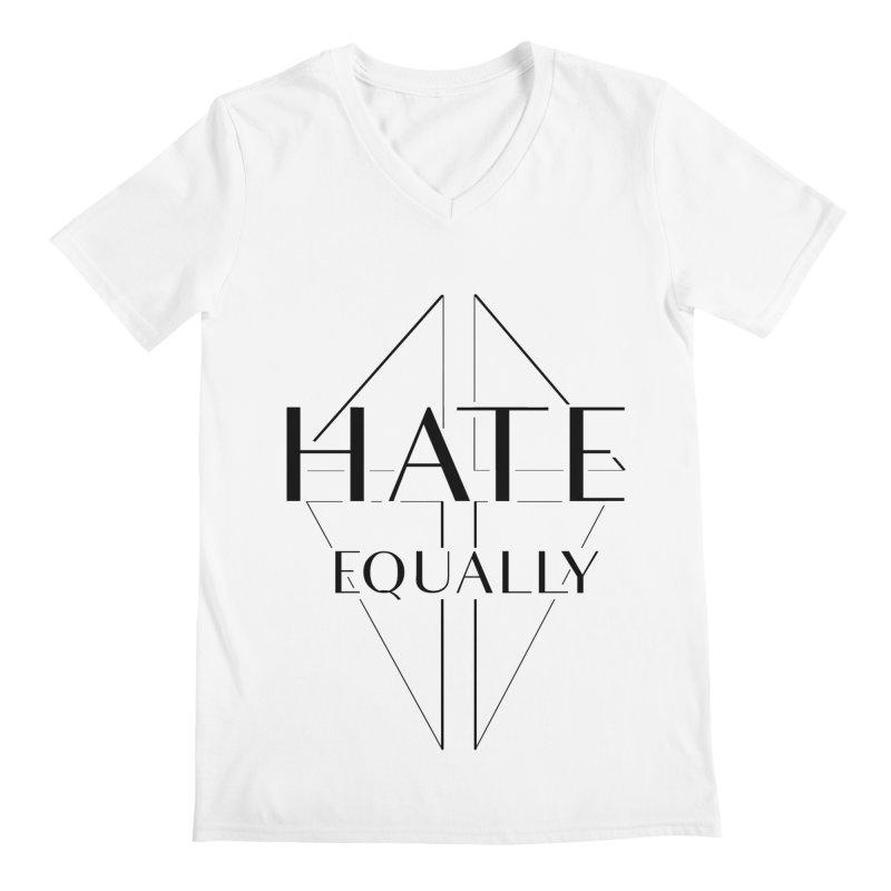 Hate equally Men's Regular V-Neck by lostsigil's Artist Shop