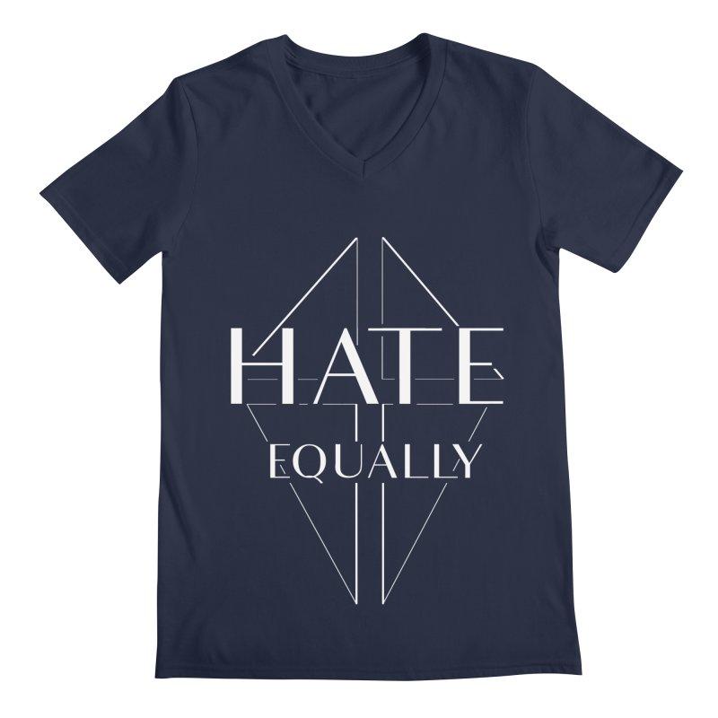 Hate equally dark Men's Regular V-Neck by lostsigil's Artist Shop