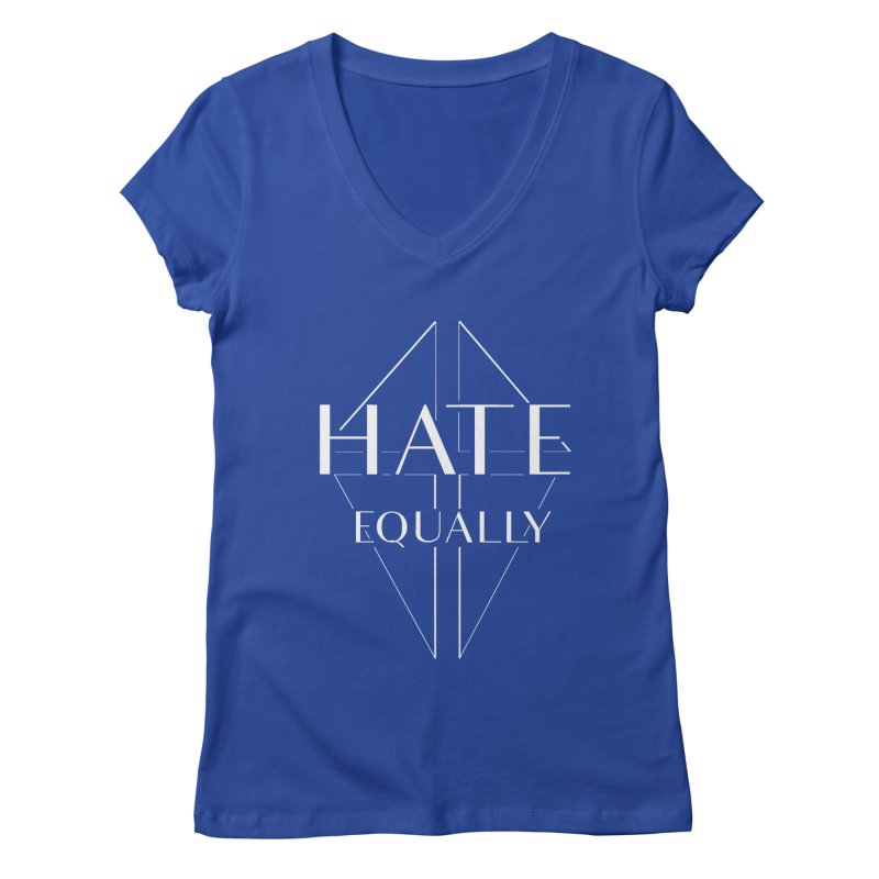 Hate equally dark Women's Regular V-Neck by lostsigil's Artist Shop