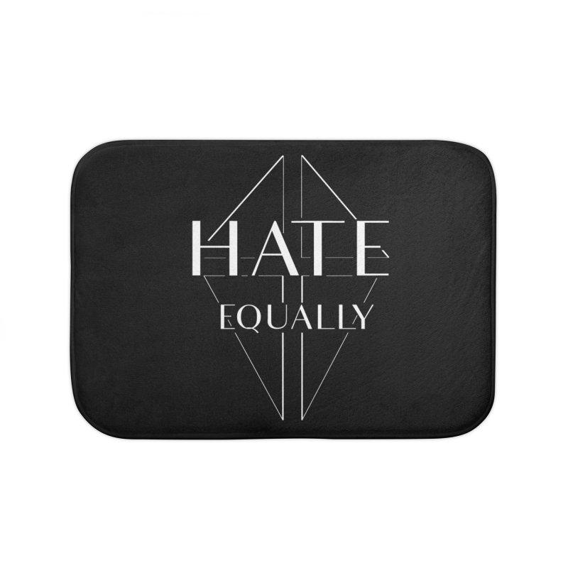 Hate equally dark Home Bath Mat by lostsigil's Artist Shop