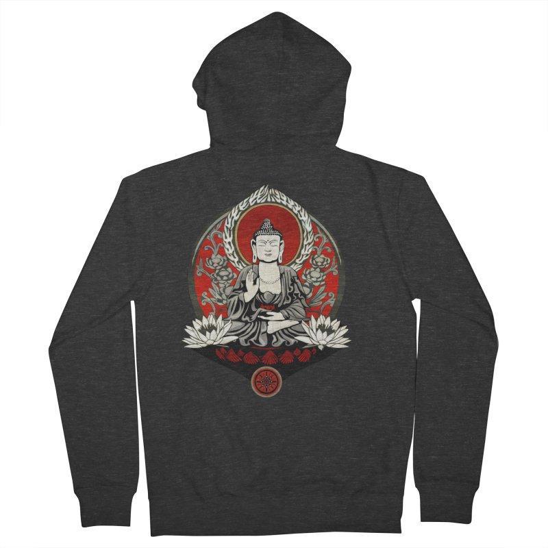 Gautama Buddha Men's Zip-Up Hoody by Lotus Lounge