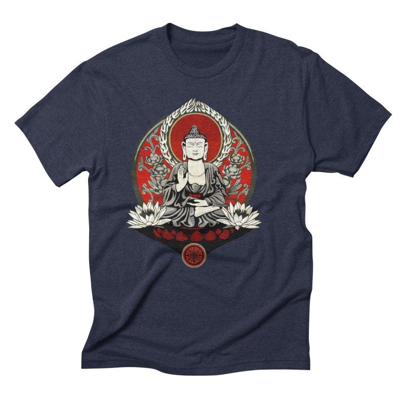 Gautama Buddha Men's Triblend T-Shirt by Lotus Lounge