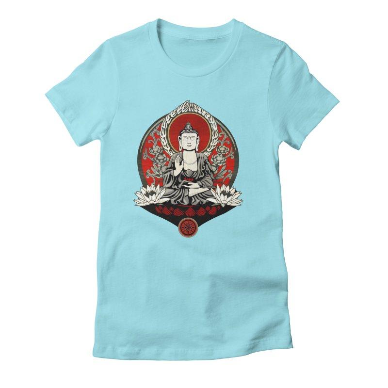 Gautama Buddha Women's Fitted T-Shirt by Lotus Lounge