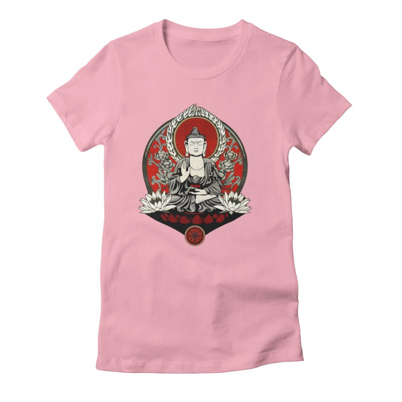 Gautama Buddha Women's Fitted T-Shirt by Lotus Lounge