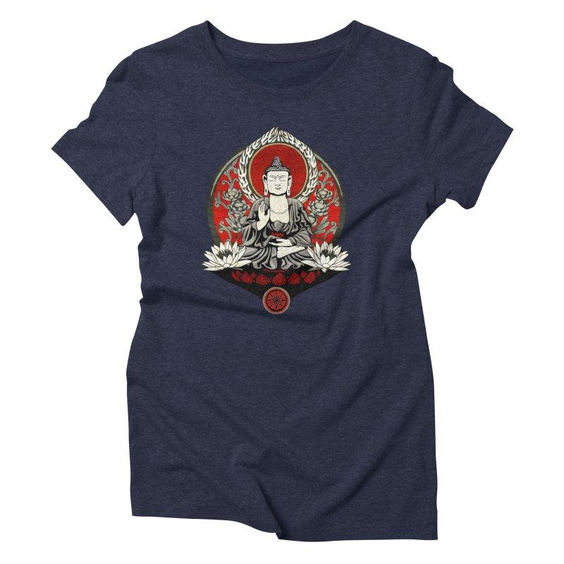 Gautama Buddha Women's Triblend T-shirt by Lotus Lounge