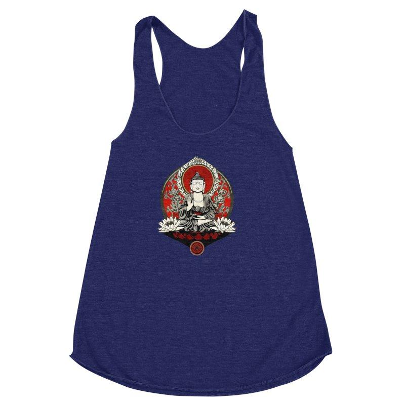 Gautama Buddha Women's Racerback Triblend Tank by Lotus Lounge