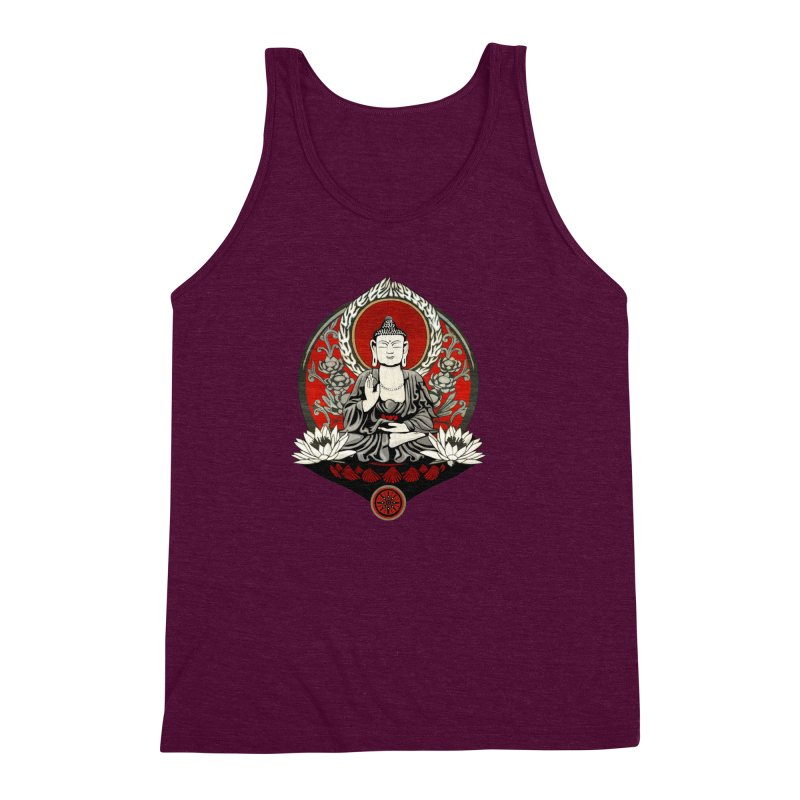 Gautama Buddha Men's Triblend Tank by Lotus Lounge