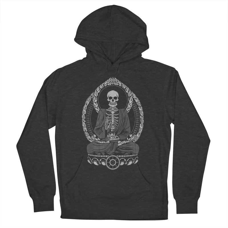 Starving Buddha - White Halftone Women's Pullover Hoody by Lotus Lounge