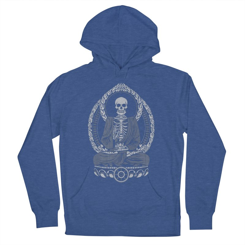 Starving Buddha - White Halftone Men's Pullover Hoody by Lotus Lounge
