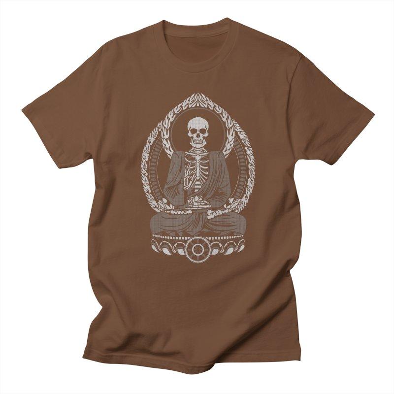 Starving Buddha - White Halftone   by Lotus Lounge