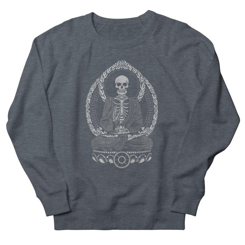 Starving Buddha - White Halftone Men's Sweatshirt by Lotus Lounge