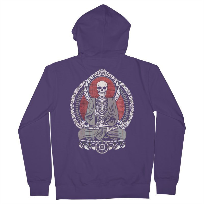 Starving Buddha - Cherry Wood Women's Zip-Up Hoody by Lotus Lounge