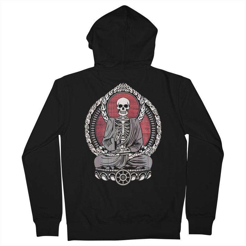 Starving Buddha - Cherry Wood Men's Zip-Up Hoody by Lotus Lounge
