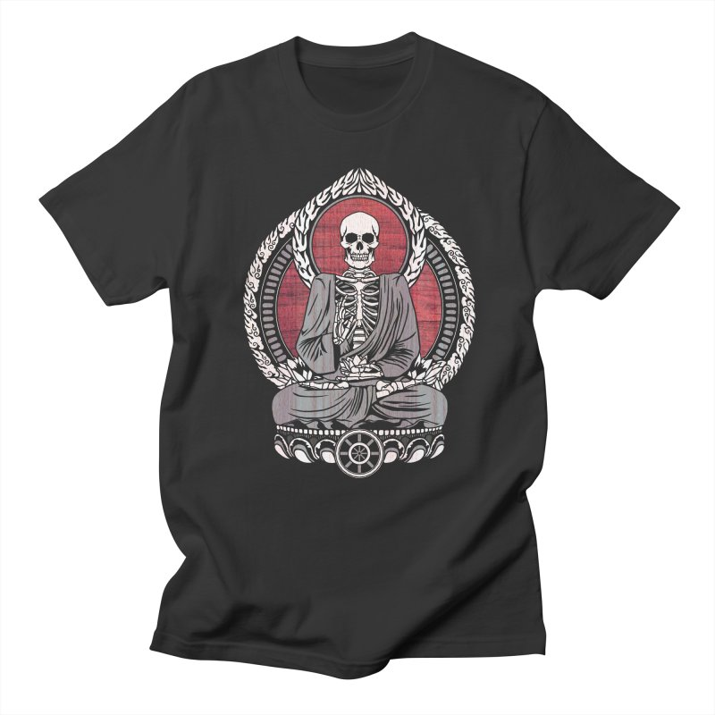 Starving Buddha - Cherry Wood Men's T-shirt by Lotus Lounge