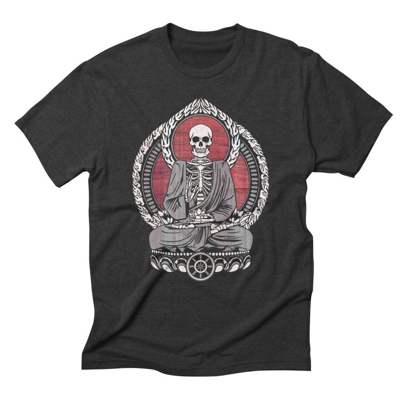 Starving Buddha - Cherry Wood Men's Triblend T-shirt by Lotus Lounge