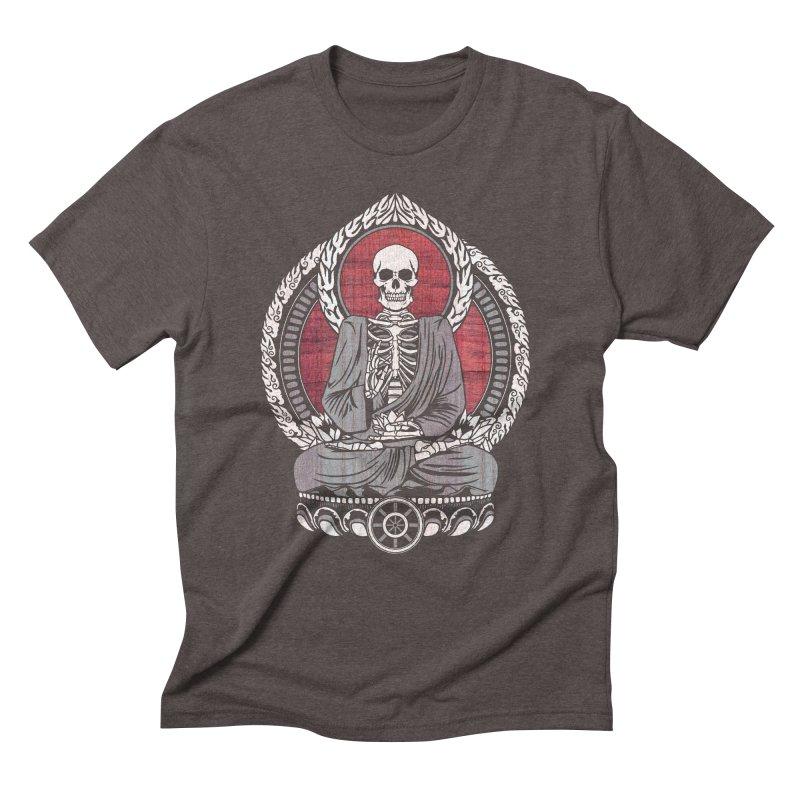 Starving Buddha - Cherry Wood Men's Triblend T-shirt by Lotus Lounge