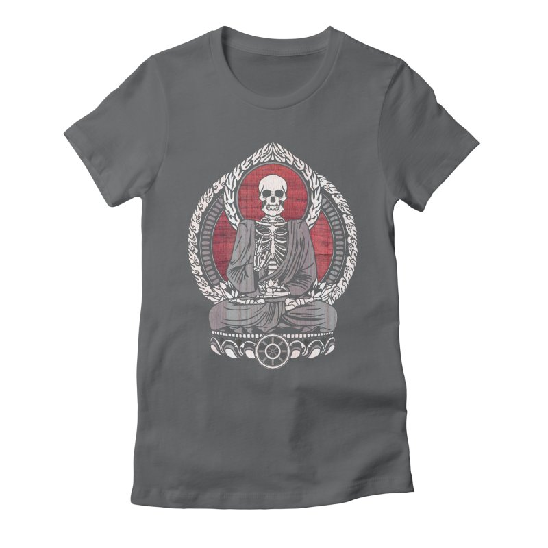 Starving Buddha - Cherry Wood Women's Fitted T-Shirt by Lotus Lounge