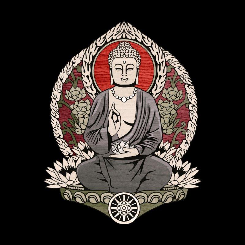 Siddhartha Buddha Woodgrain by Lotus Lounge