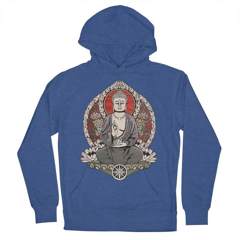 Siddhartha Buddha Woodgrain Men's Pullover Hoody by Lotus Lounge