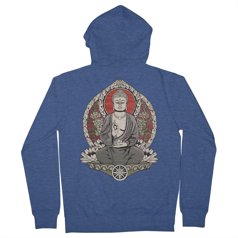 Siddhartha Buddha Woodgrain Women's Zip-Up Hoody by Lotus Lounge