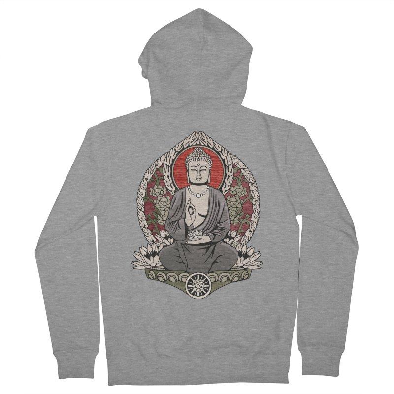 Siddhartha Buddha Woodgrain Women's Zip-Up Hoody by Lotus Lounge
