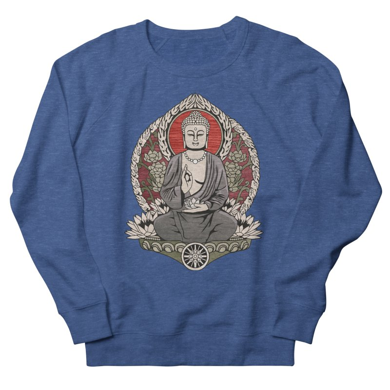 Siddhartha Buddha Woodgrain Men's Sweatshirt by Lotus Lounge