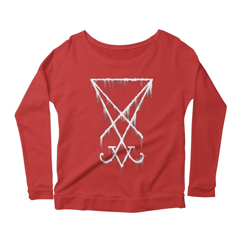 Lucifer Sigil Grunge Women's Longsleeve Scoopneck  by Lotus Lounge
