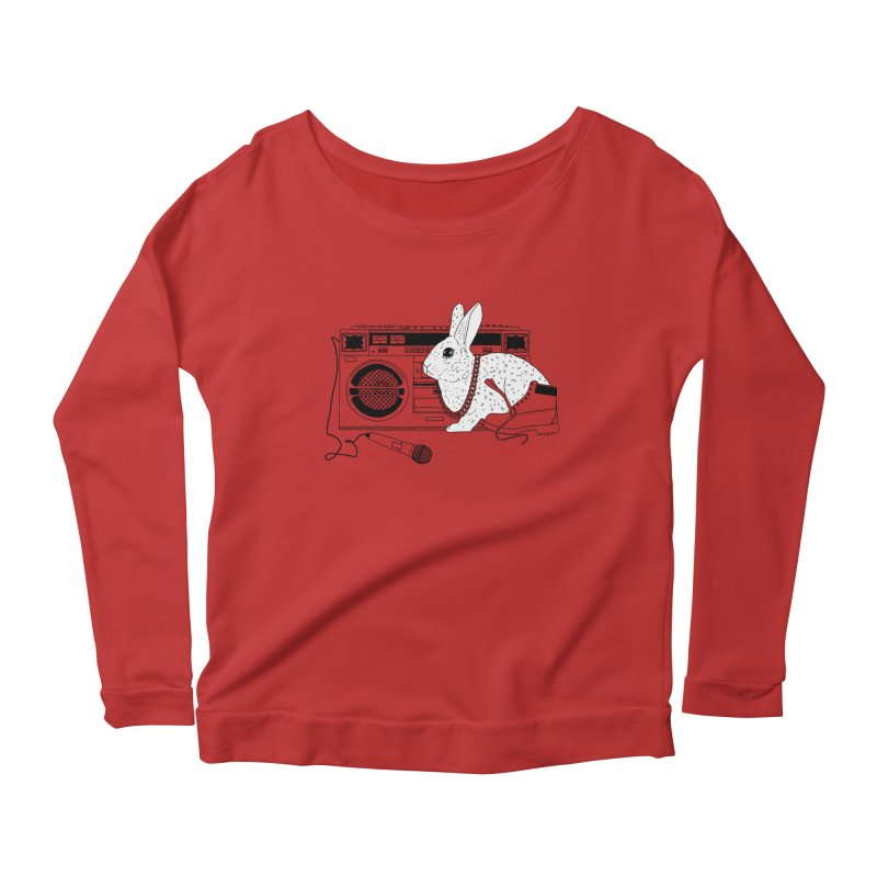 Hippity Hop Women's Longsleeve Scoopneck  by Lotus Lounge