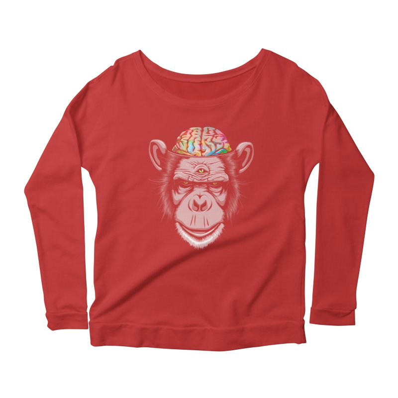 Candy Brain Women's Longsleeve Scoopneck  by Lotus Lounge