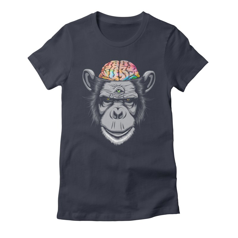 Candy Brain Women's Fitted T-Shirt by Lotus Lounge