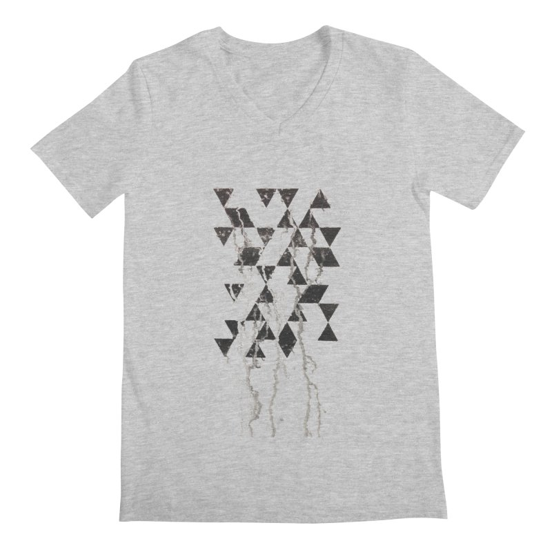 Triangles Men's V-Neck by Lotus Stencils