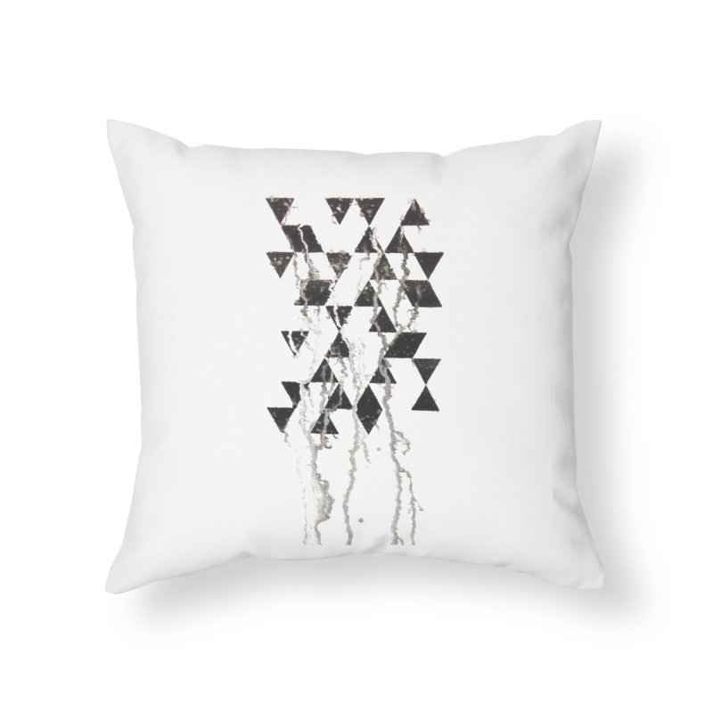 Triangles Home Throw Pillow by Lotus Stencils