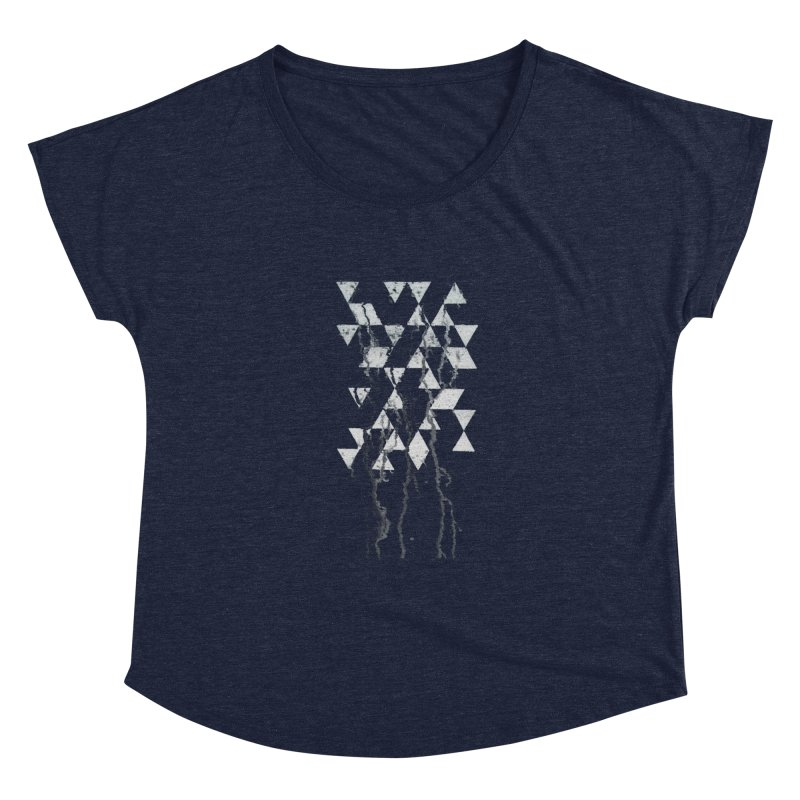 Triangles Women's Scoop Neck by Lotus Stencils
