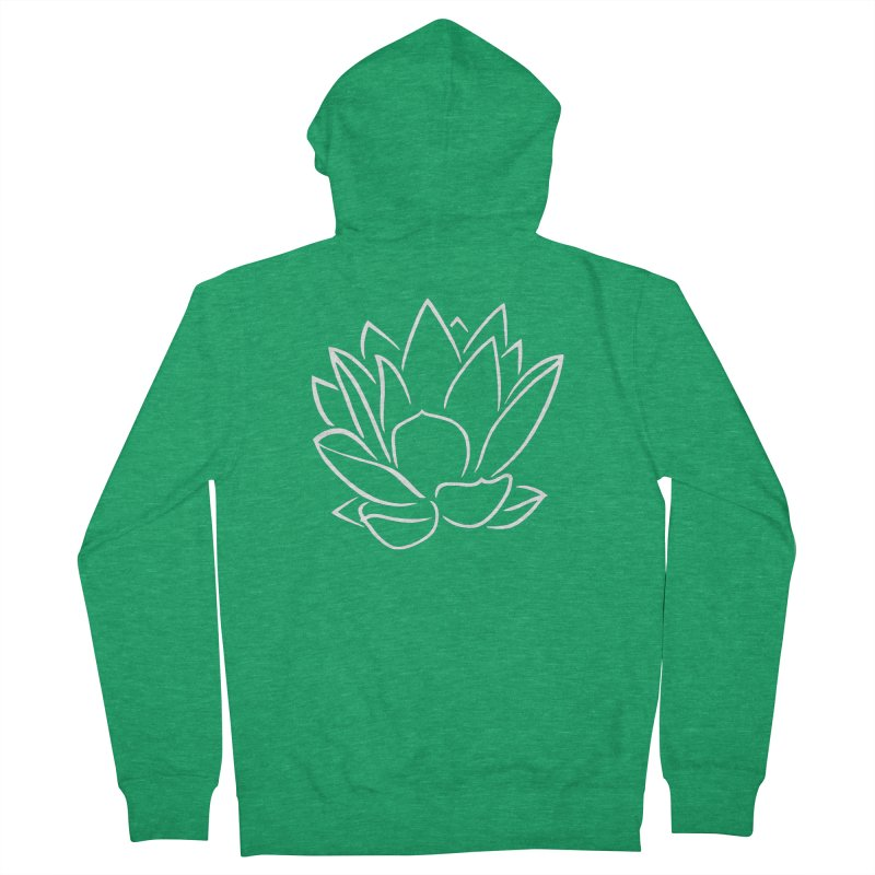 Lotus Stencils Logo Zip-Up Hoodie Men's Zip-Up Hoody by Lotus Stencils