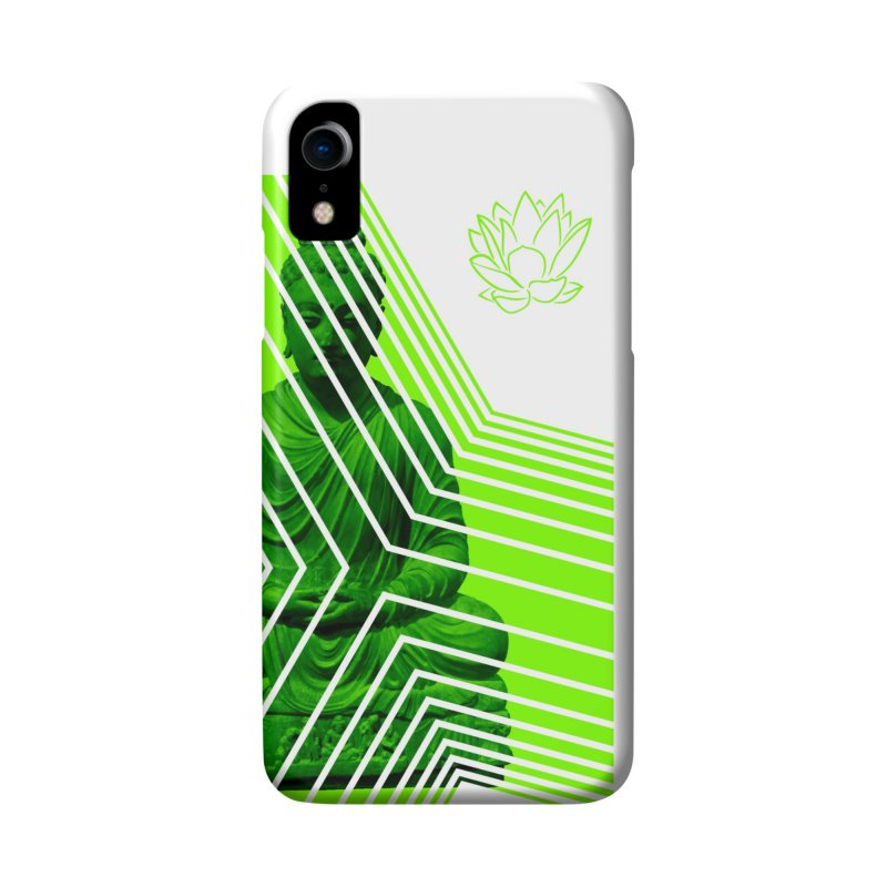 Buddha - Green Accessories Phone Case by Lotus Stencils
