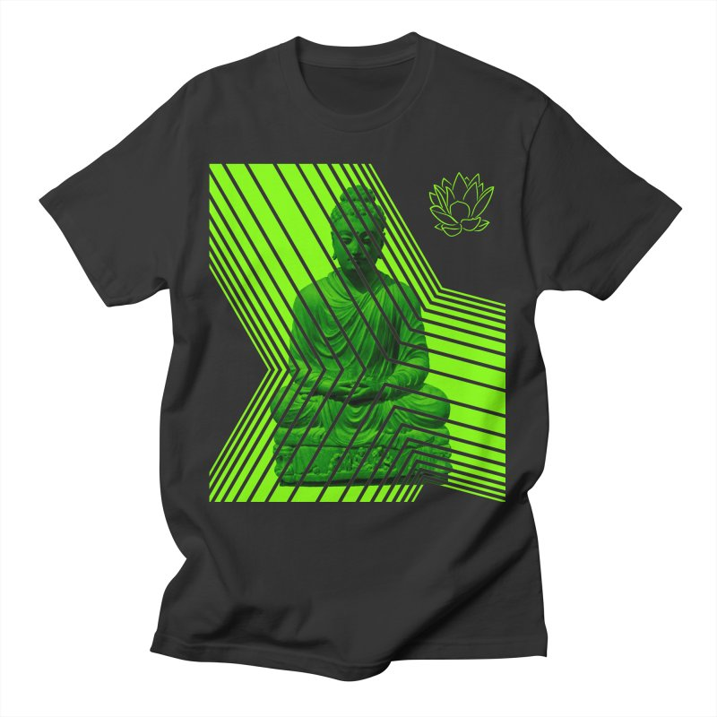 Buddha - Green Men's T-Shirt by Lotus Stencils