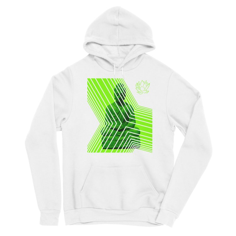 Buddha - Green Women's Pullover Hoody by Lotus Stencils