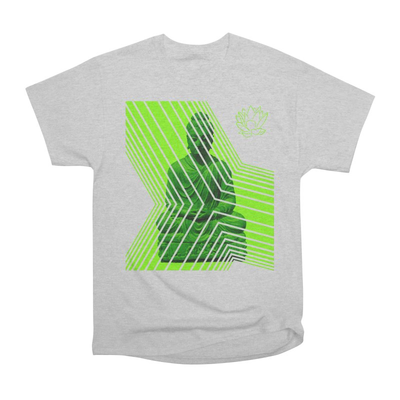 Buddha - Green Men's T-Shirt by Lotus Stencils