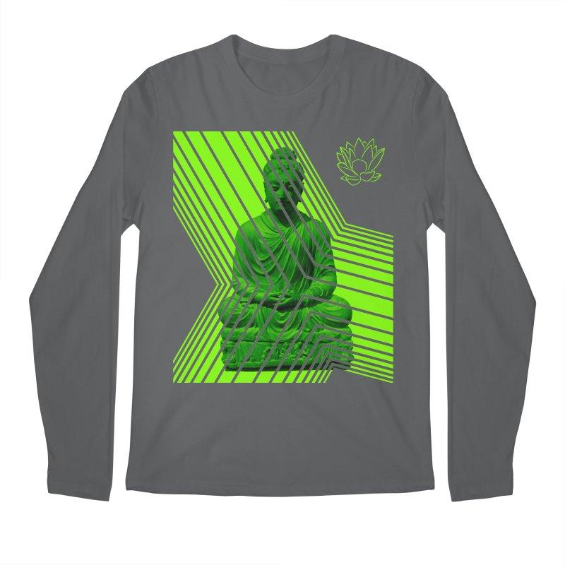 Buddha - Green Men's Longsleeve T-Shirt by Lotus Stencils