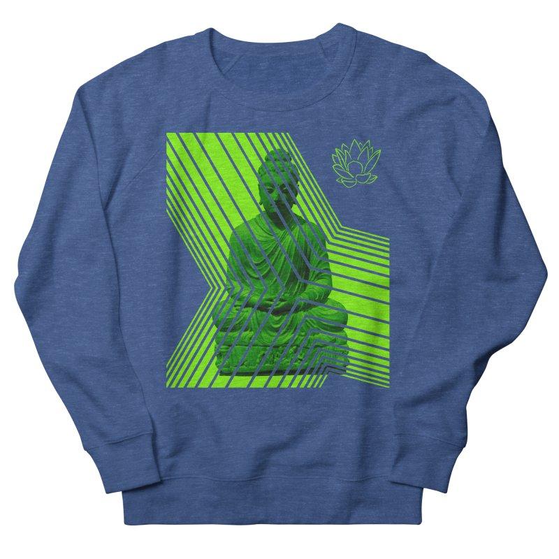 Buddha - Green Women's Sweatshirt by Lotus Stencils