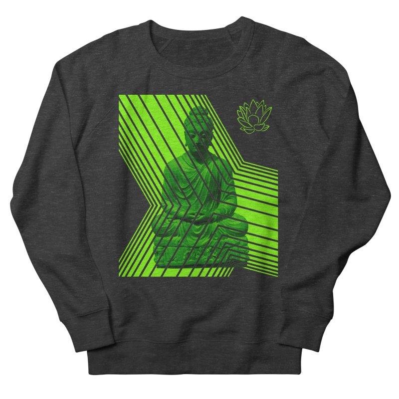 Buddha - Green Men's Sweatshirt by Lotus Stencils