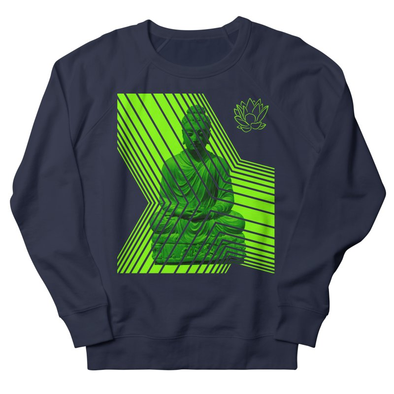 Buddha - Green Men's Sweatshirt by Lotus Stencils
