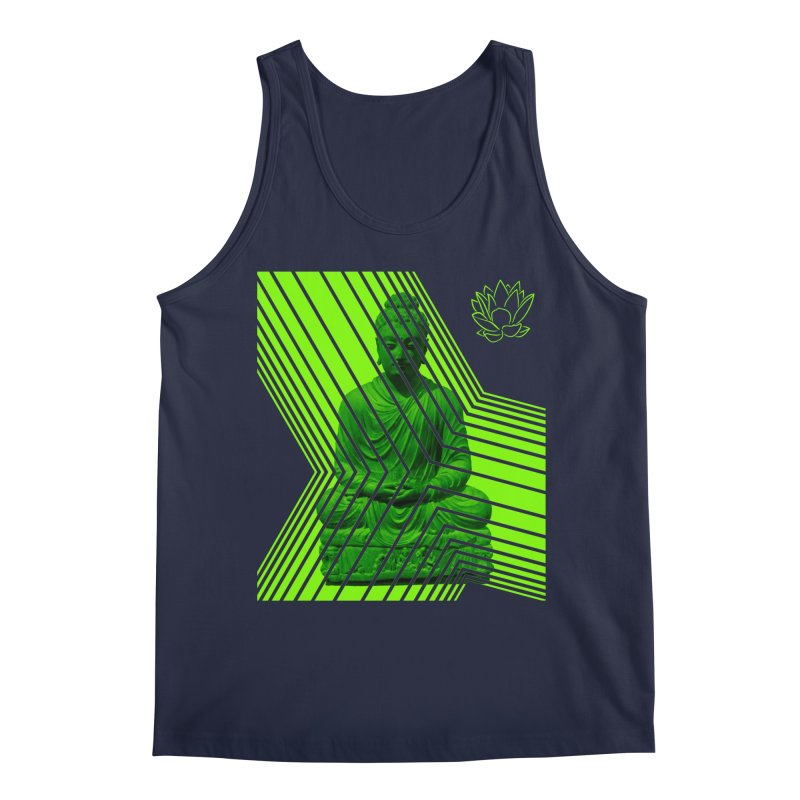 Buddha - Green Men's Tank by Lotus Stencils
