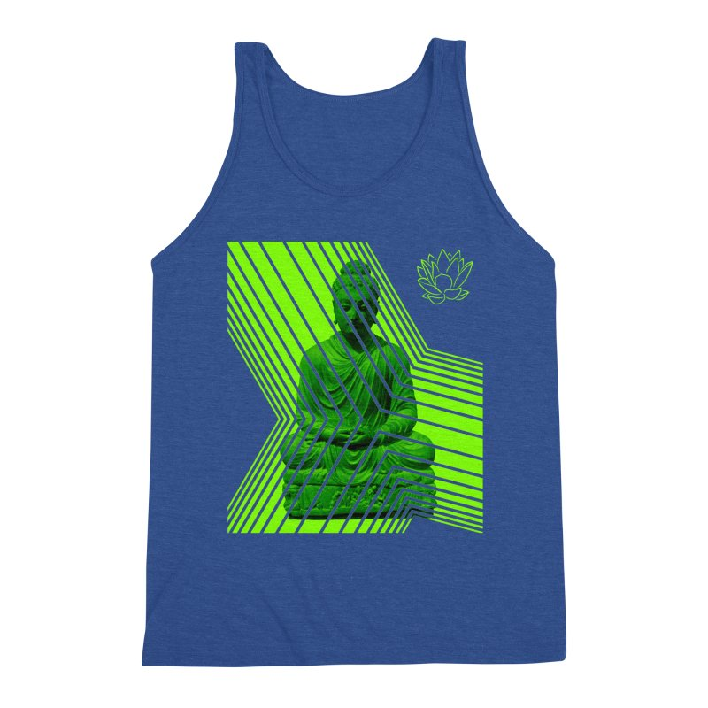 Buddha - Green Men's Tank by Lotus Stencils