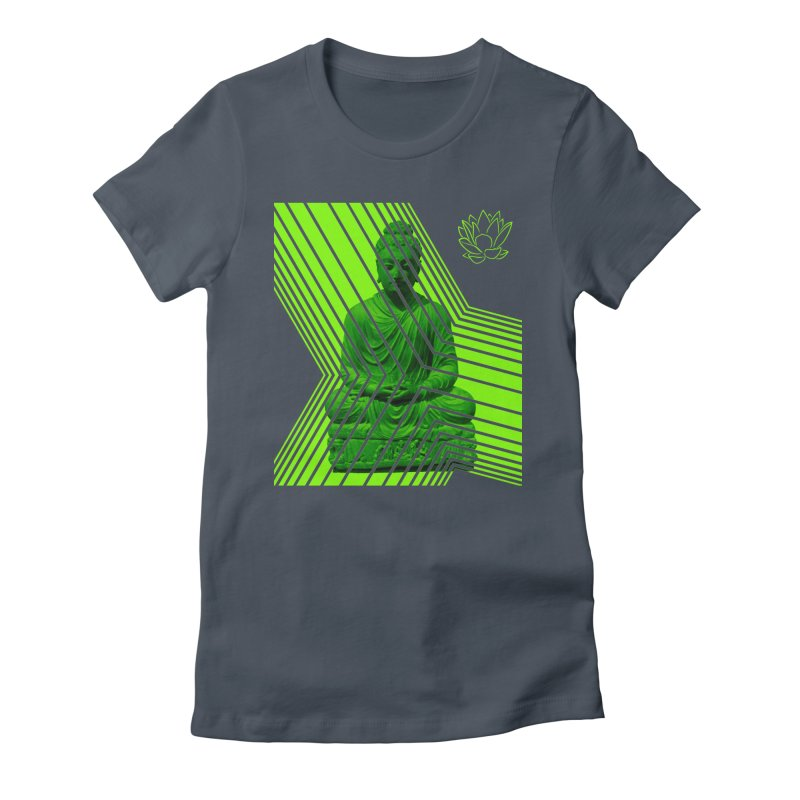 Buddha - Green Women's T-Shirt by Lotus Stencils