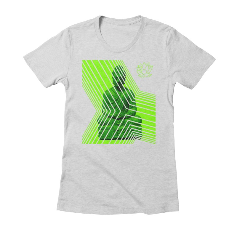 Buddha - Green Women's T-Shirt by Lotus Stencils